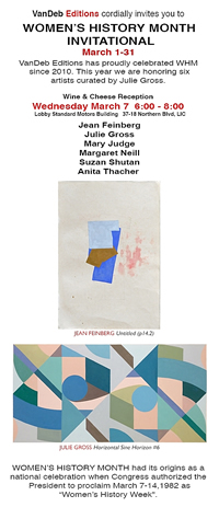 Exhibition at Van Deb Editions with Julie Gross,Jean Feinberg, Mary Judge, Margaret Neill, Anita Thacher